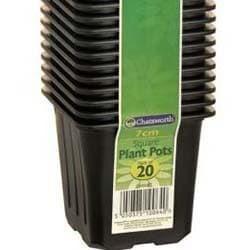 Vaso Quadrado p/ sementes - 7cm